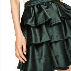 ZARA green layered skirt